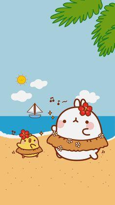 Law-World Kawaii: Wallpapers for your Cell Molang Wallpapers Kawaii, Kawaii Wallpaper, Iphone Wallpaper, Kawaii Drawings, Cute Drawings, Animal Drawings, Chibi Kawaii, Kawaii Art, Cutest Bunny Ever