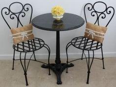San Jose Marble Bistro Table Set $225 - //furnishlyst.com/listings/1131001 & bistro table set $129   Pretty little things   Pinterest   Bistro ...