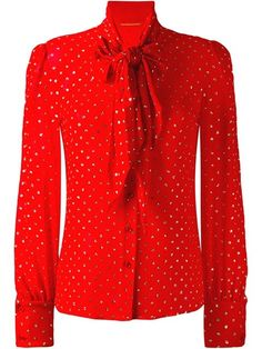 Saint Laurent Sequin Tie Blouse, http://www.kirnazabete.com/gift-guide/all-that-glitters/sequin-tie-blouse