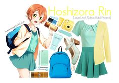 Hoshizora Rin [Love Live! School Idol Ptoject] by anggieputeri on Polyvore featuring Cutie, Chelsea Crew, MBLife.com, Casetify, Stila, Marc Jacobs, Clinique and NARS Cosmetics