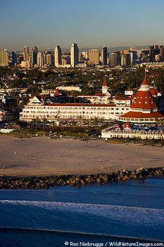 A different view of the Hotel Del Coronado ~ Coronado Island, near San Diego, California....popular resort for the famous of Hollywood through the years.