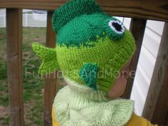 Lol I love this!  Bass Fish hat updated balaclava style for babies by Funhatsandmore, $35.00