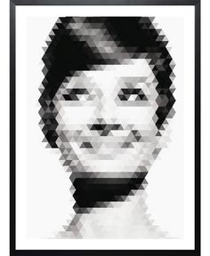 Audrey Hepburn. Geomaudry-Framed Art Print by Matej Kaspar Jirasek now on Juniqe.com | Art. Everywhere.
