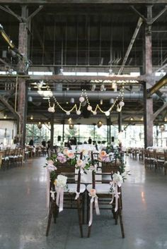 Lovely loft wedding idea