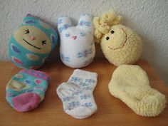 Stray sock tutorial - How to upcycle old or orphan baby socks.  Add a bell or crinkly material for a baby or cat toy.