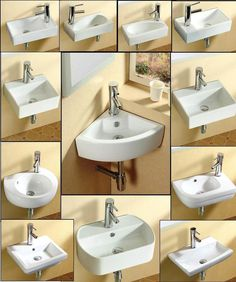 This high quality modern designWall Hung / Wall Mounted / Counter Top basin gives your bathroom a clean, stylish look; it is a piece of functional art for the bathroom; Bathroom Sink Bowls, Small Sink, Wall Mounted Bathroom Sinks, Small Bathroom Vanities, Tiny Bathrooms, Small Bathroom Storage, Tiny House Bathroom, Corner Sink Bathroom, Attic Bathroom