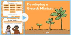 Growth Mindset PowerPoint - A teaching PowerPoint to introduce pupil to the concept of growth mind-set.
