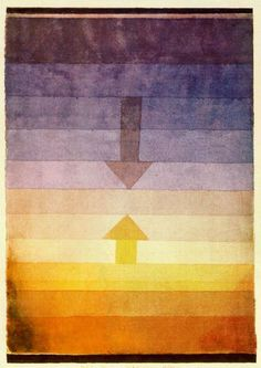 Paul Klee: Separation in the Evening, 1922. watercolor - WikiPaintings.org