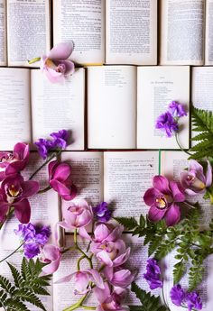 Orchids and books kind of day. xoM (Photo Credit: May Leong of @hellomissmay) hellomissmay.com/blog