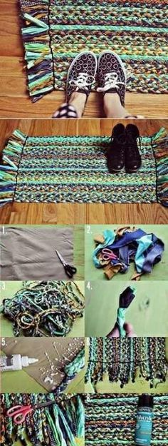 Learn How To Make A Braided Rug From Old T-Shirt's