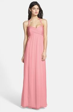Amsale Chiffon Halter Gown available at #Nordstrom