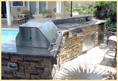 Outdoor Kitchen by Brandel Masonry in Fort Lauderdale, FL.