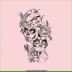 Tätowierungs-Kunst - Tattoo Trends and Lifestyle Dope Tattoos, Leg Tattoos, Body Art Tattoos, Sleeve Tattoos, Tattoo Girls, Girl Tattoos, Kunst Tattoos, Chicano Tattoos, Chicano Art