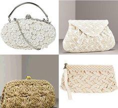 2ad15ab41 Crochet clutches Embragues, Ropa Crochet, Trapillo Crochet, Bolsas Lindas, Bolsos  De Fiesta