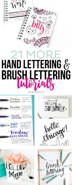 21 More Hand Lettering & Brush Lettering Tutorials