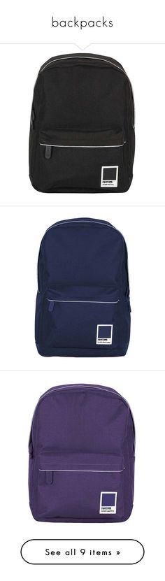 """""""backpacks"""" by mrtnuc on Polyvore featuring bags, backpacks, grey, strap backpack, travel backpack, miniature backpack, polyester backpack, mini bag, blue and blue backpack"""