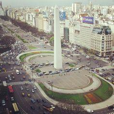 Obelisco - Plaza de la República in Baires, Buenos Aires C.F.