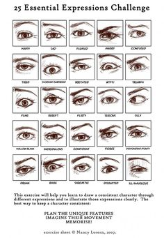 Drawing eye challenge