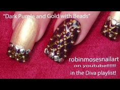 Louis Vuitton inspired nail art by Robin Moses :D