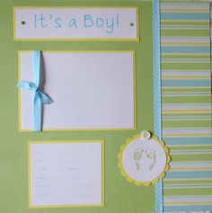 Baby Boy Scrapbook Layouts | 20 BABY BOY Scrapbook Pages for 12x12 FiRsT YeAr ALbUm --playful and ...