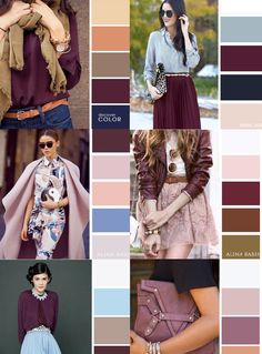 Mix and match Colour Combinations Fashion, Color Combinations For Clothes, Fashion Colours, Colorful Fashion, Color Combos, Wardrobe Color Guide, Style Bleu, Fashion Vocabulary, Color Balance