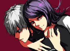 Kamishiro Rize and Kaneki Ken