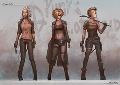 Post-Apocalyptic Fashion I like the idea of having three different looking outfits, but I don't like the more modern looking for post apocalyptic.
