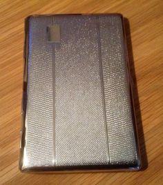 Cigarette Case. Silver Tone by Seigneur. Era by VintageUKSouth
