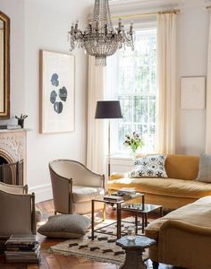 c3ab950dc94b Explore a stunning 1890s brownstone family home in New York City   Livingroomdecorations Living Room Decor