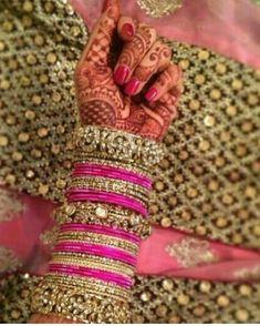 1,2,3,4,5,6,7,8 9 or 10???? Thread Bangles, Thread Jewellery, Silver Bracelets, Bangle Bracelets, Bridal Bangles, Bridal Jewelry Sets, Bridal Jewellery, Bridal Sets, Indian Bridal Fashion