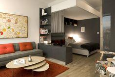 decoracion de interiores de apartamento tipo loft