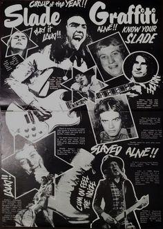 Slade Band, 70s Glam Rock, Noddy Holder, British Rock, 25th Anniversary, Number One, Rock N Roll, Graffiti, Feelings