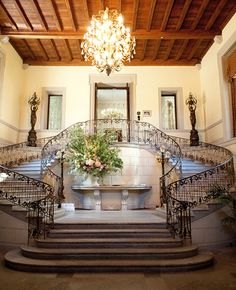 Oheka Castle Wedding Entrance | Caroline Tran Photographer| blog.theknot.com