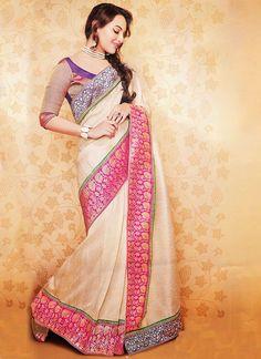 Sonakshi Sinha in Beautiful Wedding Saree  #SonakshiSinha #Wedding #Saree #Blouse