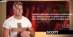 Geordie shore. Geordie shore quote. Scott. Scotty T Geordie Shore, Geordie Shore Quotes, I Laughed, Funny Stuff, Give It To Me, Tv, My Love, Movies, Funny Things