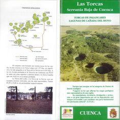 Folleto turístico de Las Torcas y Lagunas en la Serranía de Cuenca, con lugares de interés y recorridos. Patronato de Desarrollo Provincial de Cuenca, 1993. #Cuenca #Turismo