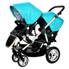 high-end twin baby stroller baby stroller and portable two-way double seat flat cart