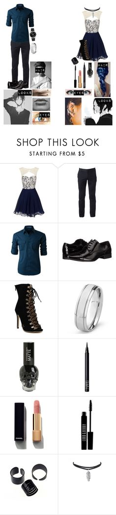 """""""Hisao and atsuko at the dwmd founding party//soul eater"""" by gglloyd ❤ liked on Polyvore featuring Chi Chi, Urban Pipeline, LE3NO, Calvin Klein, West Coast Jewelry, TIGI, NARS Cosmetics, Chanel and Lord & Berry"""