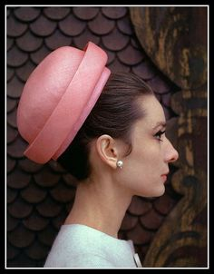 Audrey is wearing Givenchy's pink Panama straw pillbox, May 1962 | Flickr - Photo Sharing!)