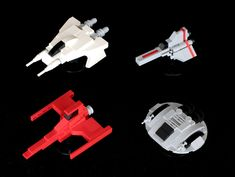 LEGO spaceship minis inspired by Glen Larson TV shows | by SPARKART!