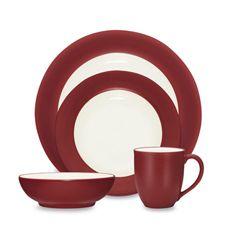 Noritake® Colorwave Raspberry Rim Dinnerware - Bed Bath & Beyond