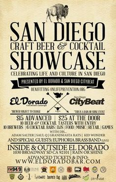 Promotional flyer for the San Diego Craft Beer and Cocktail Showcase at El Dorado Bar