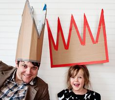 Fun for a Photo Booth...or Just to Wear at a Celebration: Oversized Cardboard Party Hats at A Subtle Revelry....