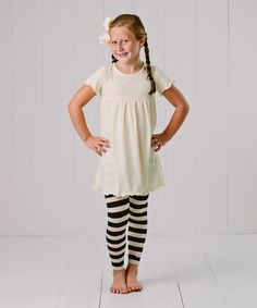 Look what I found on #zulily! Cream Ruffle Leggings Set - Infant, Toddler & Girls #zulilyfinds