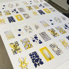 ideas for design graphique trame Art And Illustration, Pattern Art, Pattern Design, Art Plastique, Art Sketchbook, Design Reference, Graphic Design Inspiration, Letterpress, Making Ideas