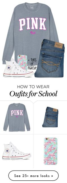 """""""What a ton of girls wear at my school"""" by hgw8503 on Polyvore featuring Abercrombie & Fitch, Lilly Pulitzer, Converse, women's clothing, women's fashion, women, female, woman, misses and juniors"""