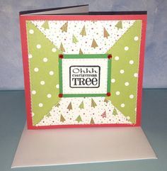 Ohhh Christmas Tree Card Handmade Card by JemLouProductions, $3.00