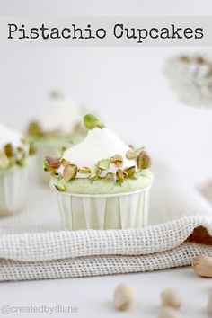 pistachio cupcakes from @createdbydiane
