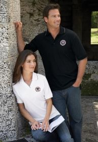 Promotional Products Ideas That Work: LADIES' JOHNNY COLLAR JERSEY POLO WITH PENCIL STRIPE. Get yours at www.luscangroup.com