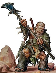 Alton Stormpeak, a halfling barbarian. Slightly less bulky than this picture.